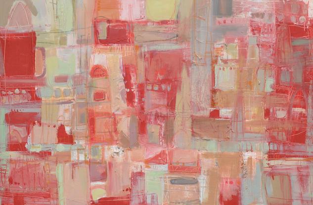 abstracto en rojo