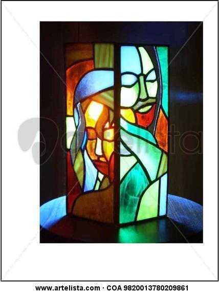 biombo Cristal De vidriera Retrato