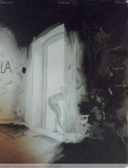 en el umbral de la puerta