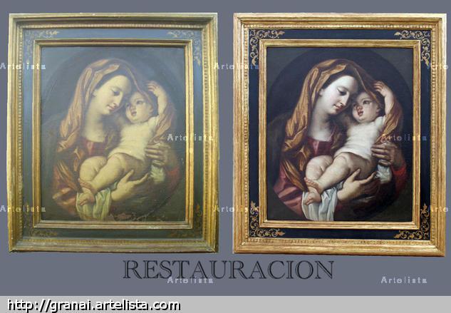 virgen con niño (en restauracion)