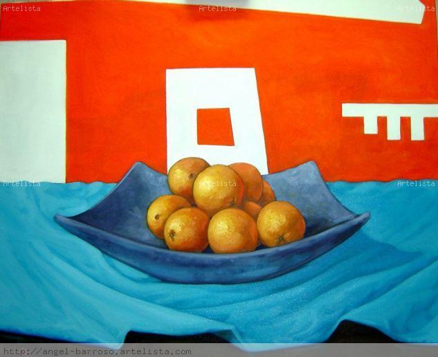 Naranjas sobre naranja Óleo Lienzo Bodegones