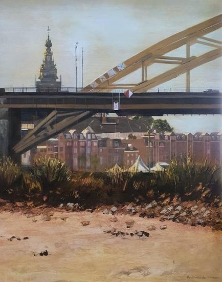 La torre Stevens Landscaping Acrylic Canvas