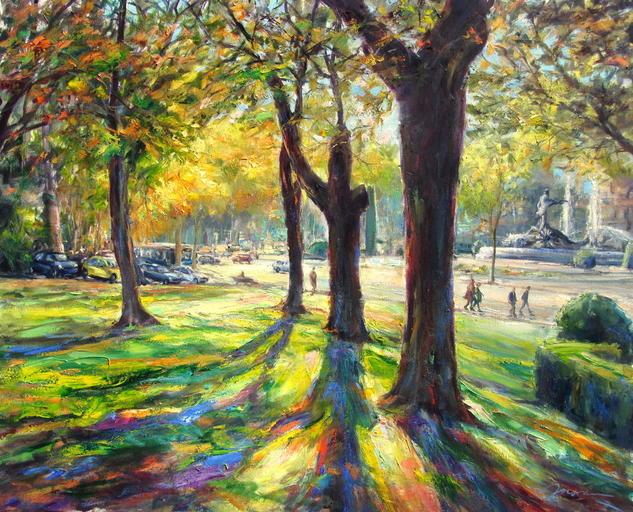"""""""Neptuno a contraluz"""" Oil Landscaping Canvas"""