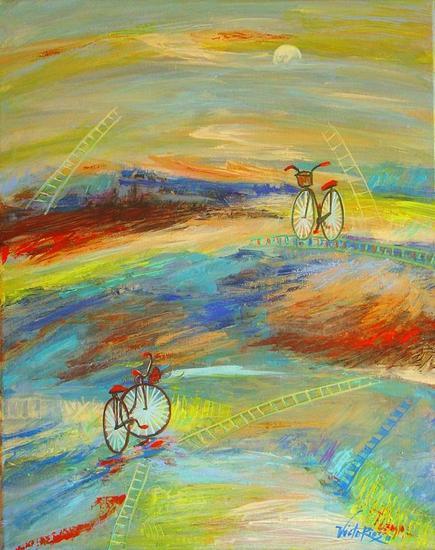 THE BICYCLE # 11. CHRONIC!!! TABOO!!!!. Acrílico Lienzo Paisaje