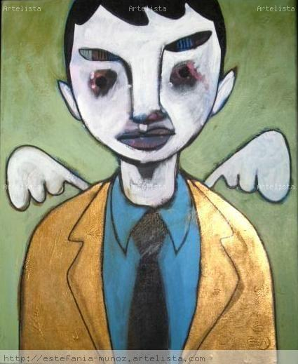 good boy bad job Canvas Acrylic Figure Painting
