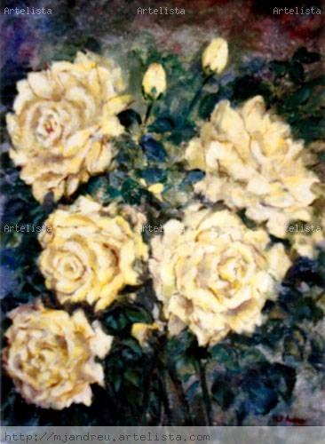 rosas amarillas Otros Lienzo Floral
