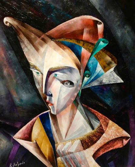 Fréido Textile Oil Portrait