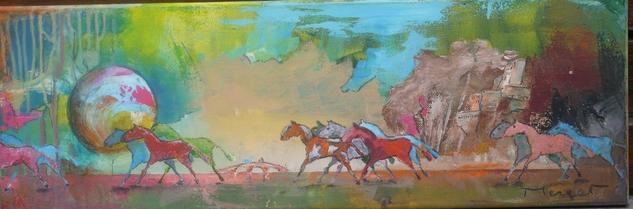 cheval liberté 1/5 Canvas Acrylic Animals