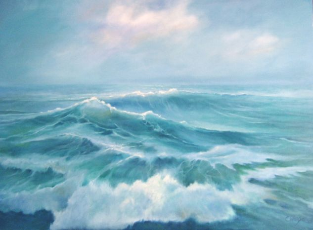 Mar picada Canvas Marine Painting Oil