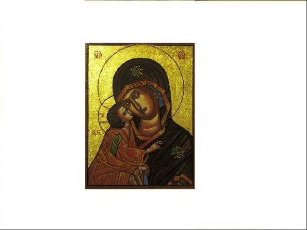 Icono Bizantino Gouache Others Portrait