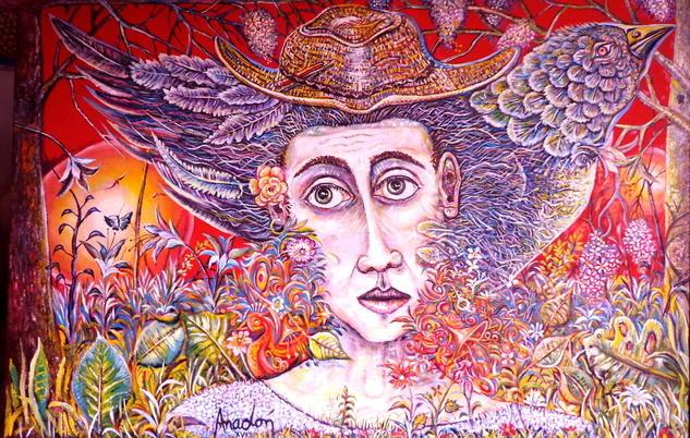 Retrato de un Amigo. SOLD / VENDIDA. Lienzo Óleo Paisaje