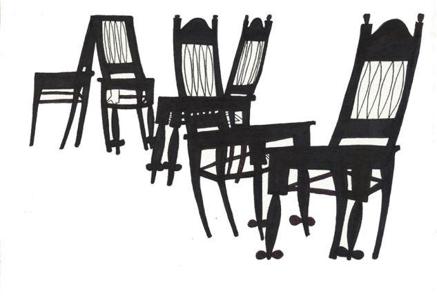 sillas negras Tinta