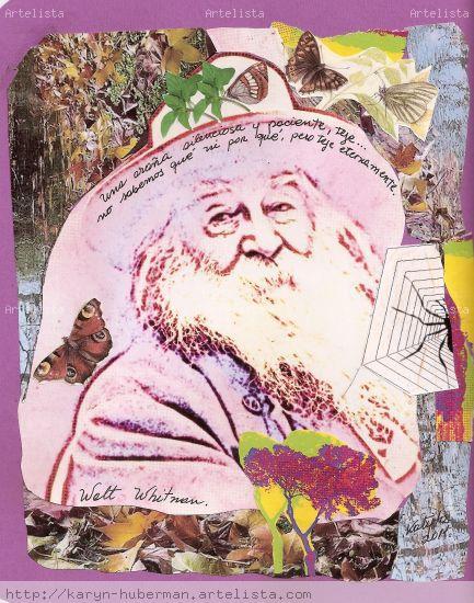 Acercándonos a Walt Whitman Cartulina Retrato