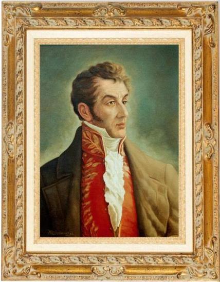 RETRATO ANTONIO NARIÑO Óleo Lienzo Retrato