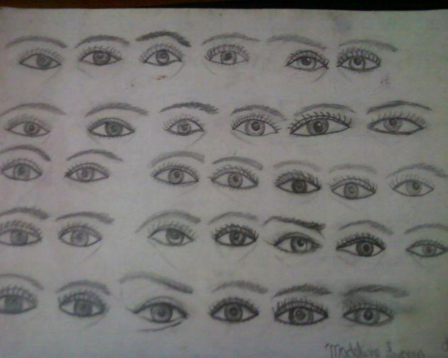 ojos a lapiz