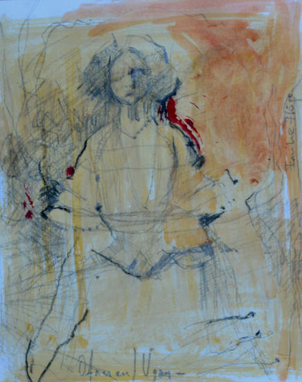 Mujer en lápiz  Pencil