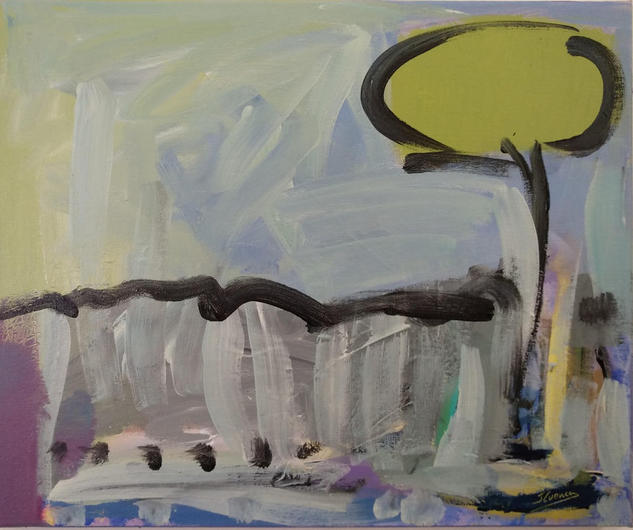 ÁRBOLES DE ABRIL/2 Landscaping Acrylic Canvas