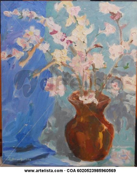flors Panel Oil Floral Painting