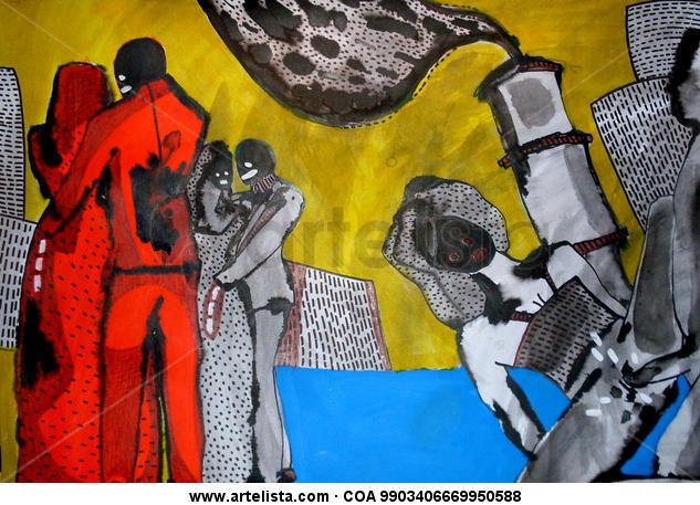 sexo 2 Cartulina Acrílico Desnudos