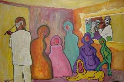 Las Meninas de Picasso Acrílico Tabla Retrato