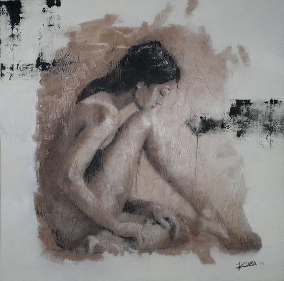 Reposo Lienzo Óleo Desnudos