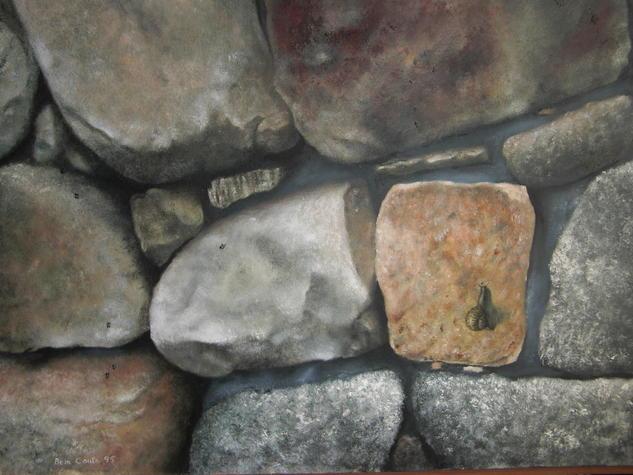 ¨Muro de piedra¨ Lienzo Óleo Otros