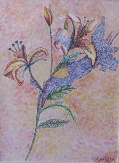 """""""Flores"""" Media Mixta Papel Floral"""