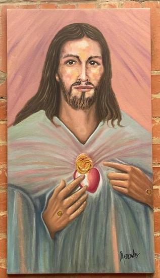 jesus gruia mis pasos Retrato Óleo Lienzo