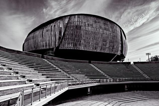 Auditorio de Roma Architecture and Interiorism Black and White (Digital)