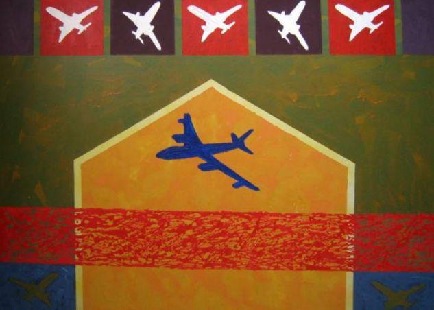 De la serie Quimeras, encrucijada azul. acrilico-lienzo. 113x149, 2007