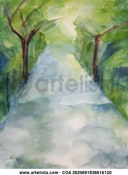 primavera ll Paper Watercolour Landscaping