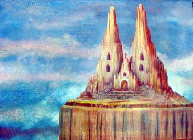 La Catedral de la Tierra Cartulina Óleo Paisaje