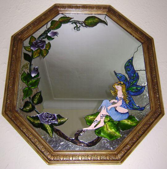 HADA-MARIPOSA Cristal De vidriera Floral