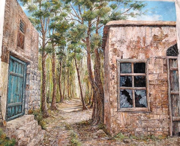 Casa en el bosque Lienzo Óleo Paisaje