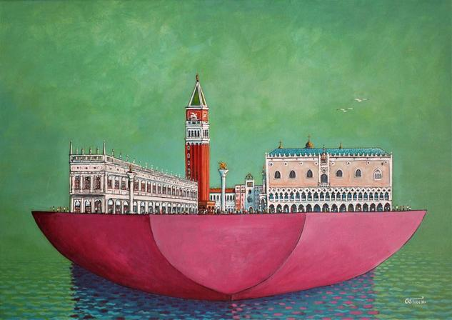 Venezia viaggio nel tempo 03 Marina Acrílico Tela