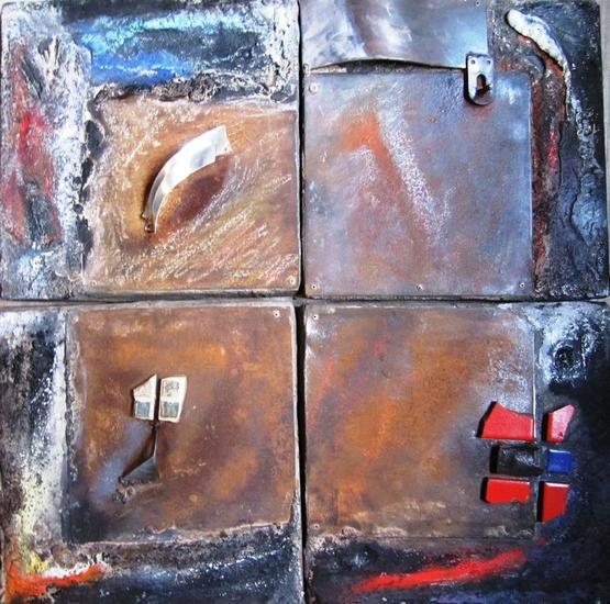 SERIE: AL FINAL DE LA TARDE 9, 10, 11 Y 12 de 12 Mixta Abstracta