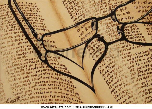 Amor por la lectura Lienzo Óleo Bodegones