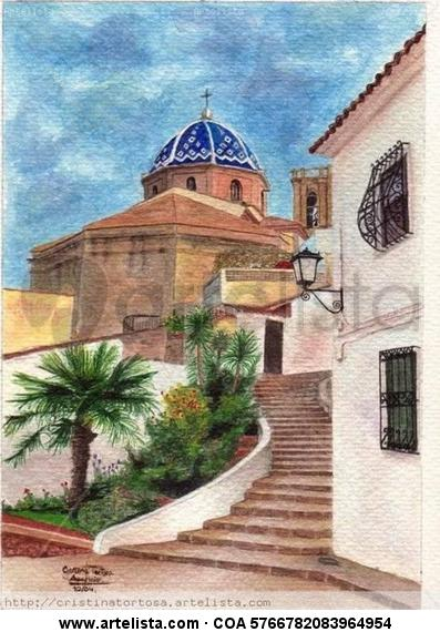 Un Paseo por Altea Watercolour Paper Landscaping