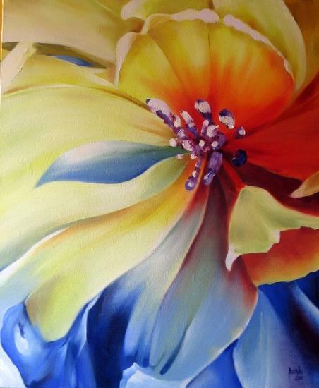 Flor Lienzo Óleo Floral