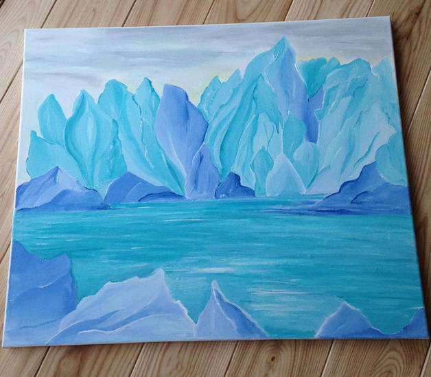 hielo y color Otros Acrílico Paisaje