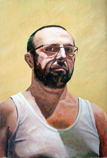 Homenaje a Lucian Freud Acrílico Tabla Retrato