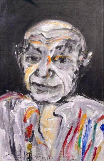 Retrato de Picasso Tela Acrílico Retrato