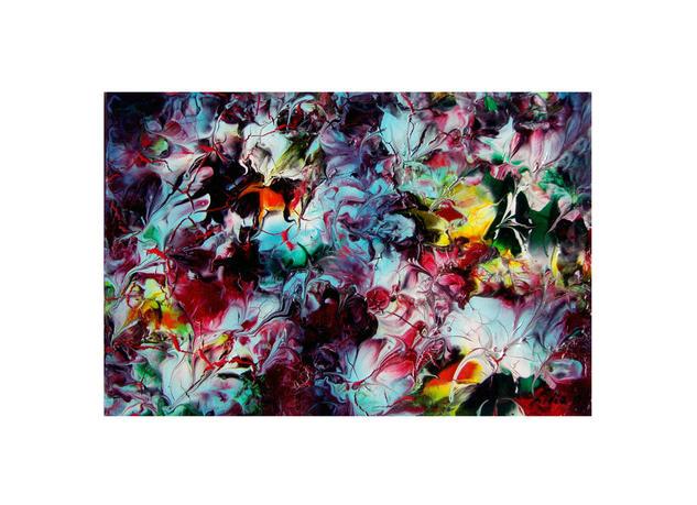 pintura-abstract floral Acrílico Otros Paisaje