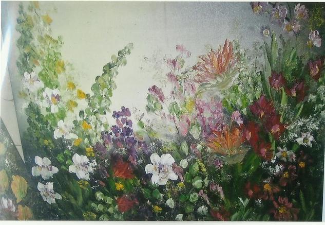 Flowers 1 Lienzo Óleo Floral