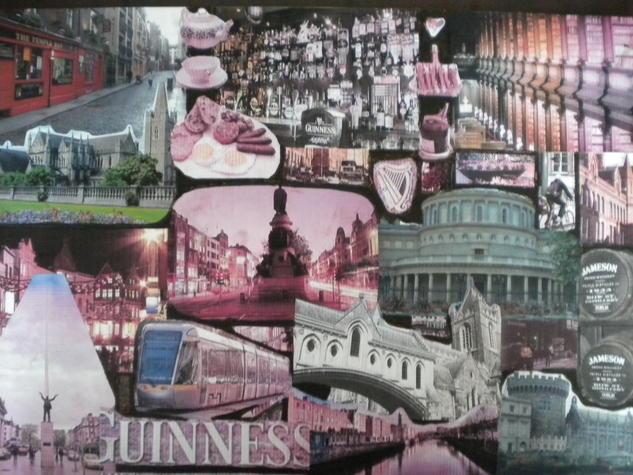 Collage Dublín Paisaje Cartulina