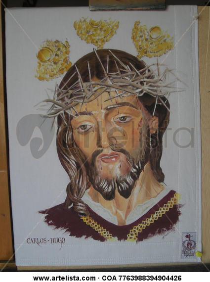 Cristo Lienzo Acrílico Retrato