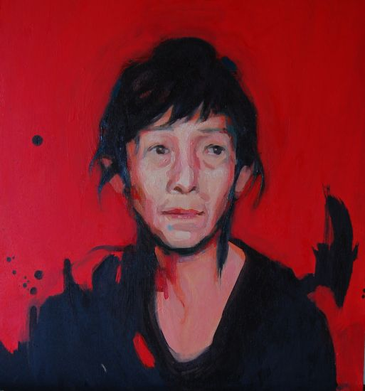 Kazuyo Sefima. Panel Oil Portrait