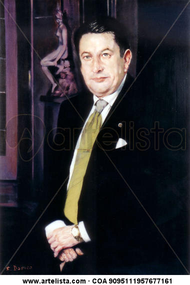 Paco Vázquez. Óleo Lienzo Retrato