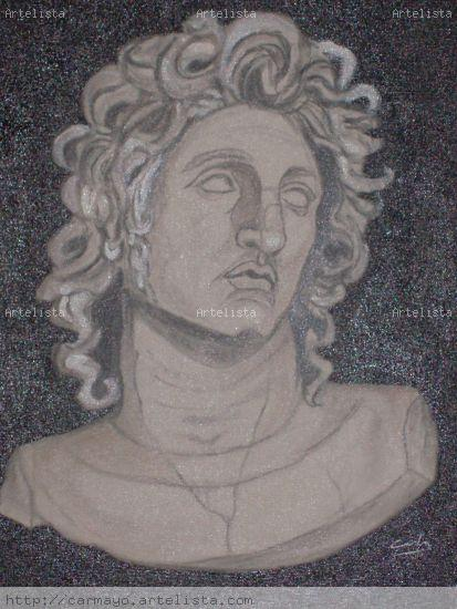 Alejandro Magno Óleo Lienzo Retrato