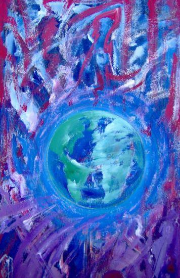 Planet-Erde Acrílico Otros Figura